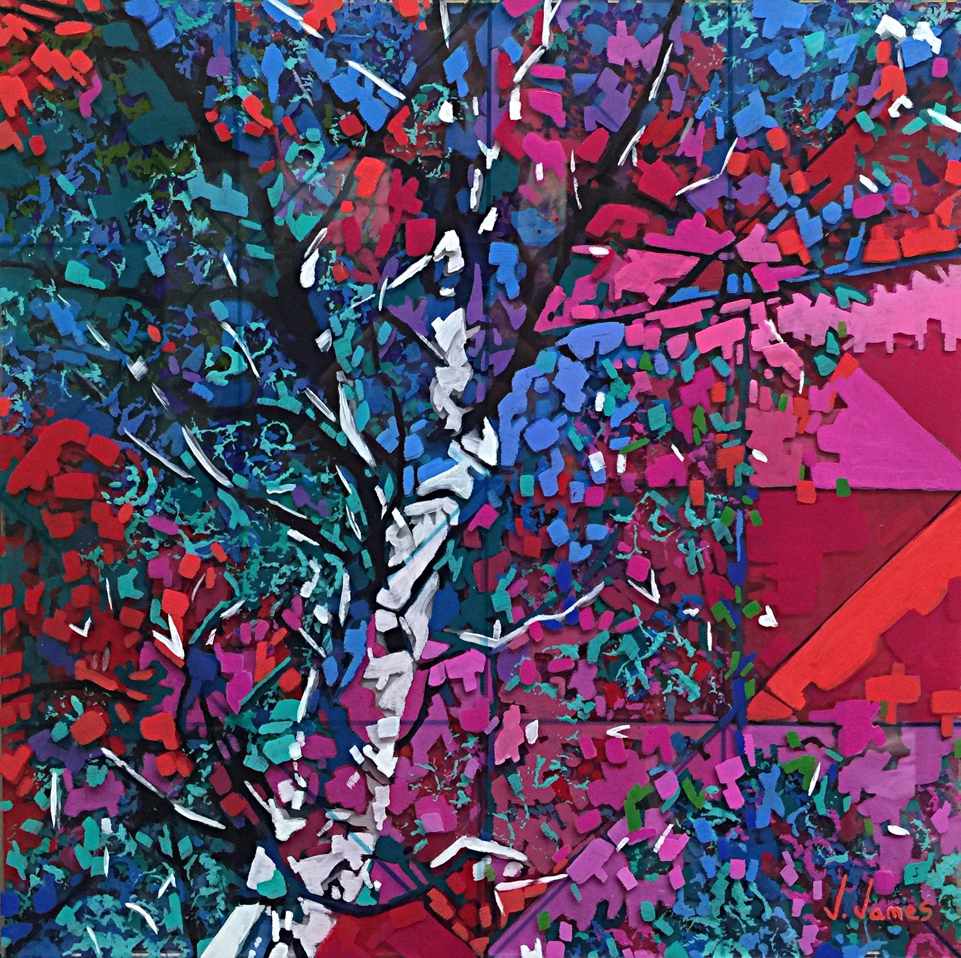"POP!, 13"" x 13"" Acrylic on Multi-Layered Acrylic Glass"