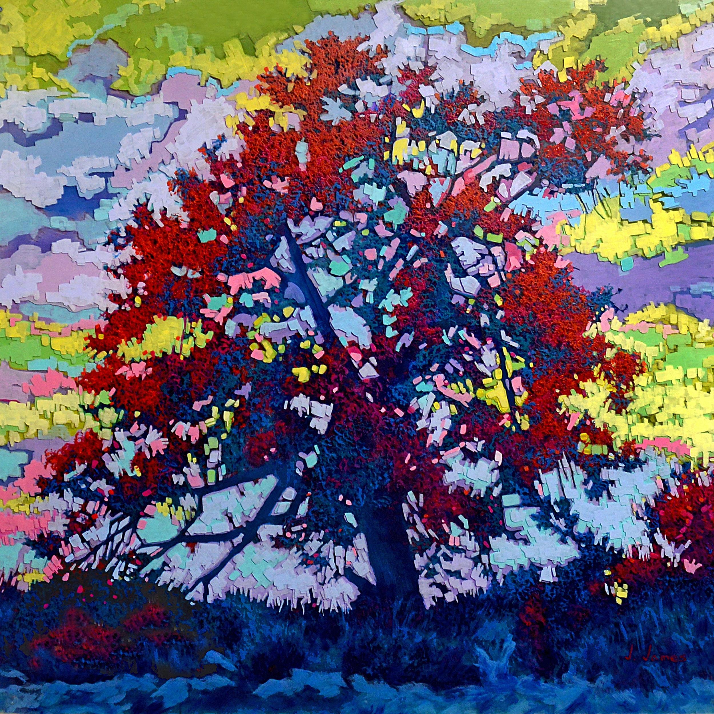 "Scattered Light, 36"" x 36"" Acrylic on Multi-Panel Acrylic Glass"