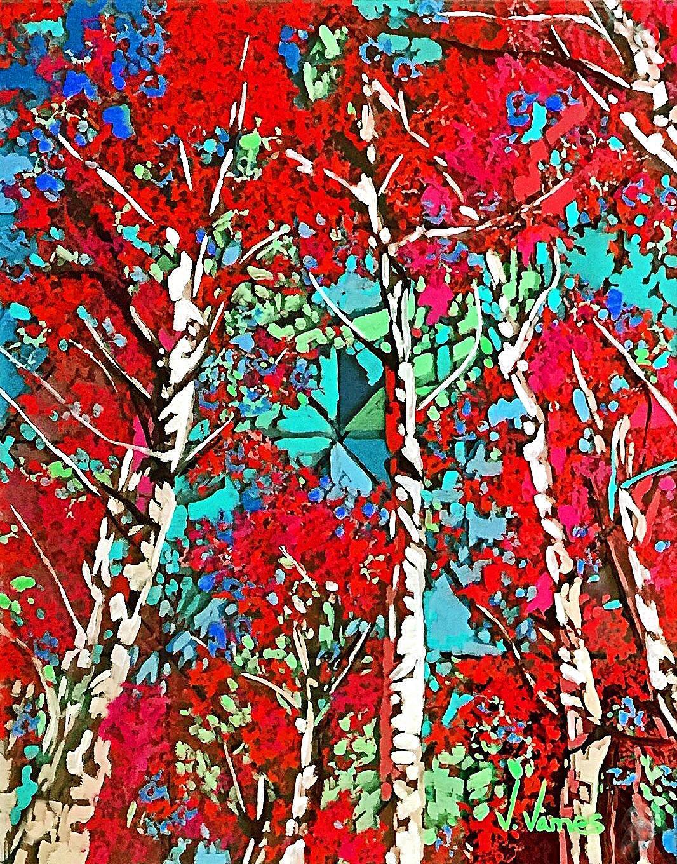 """Swaying To The Breeze, 10"""" x 8"""" Acrylic on Multi-Panel Acrylic Glass"""
