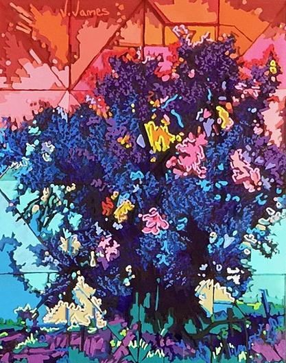 """Sacred, 10"""" x 8"""" Acrylic on Multi-Panel Acrylic Glass"""