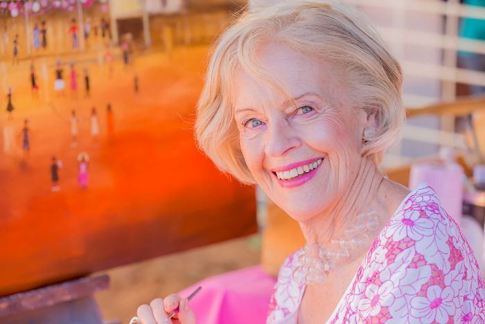 Photo:  Festival patron Dame Quentin Bryce travelled to Jundah to be part of Channel Country Ladies Day. (Supplied: Louise Gronold)