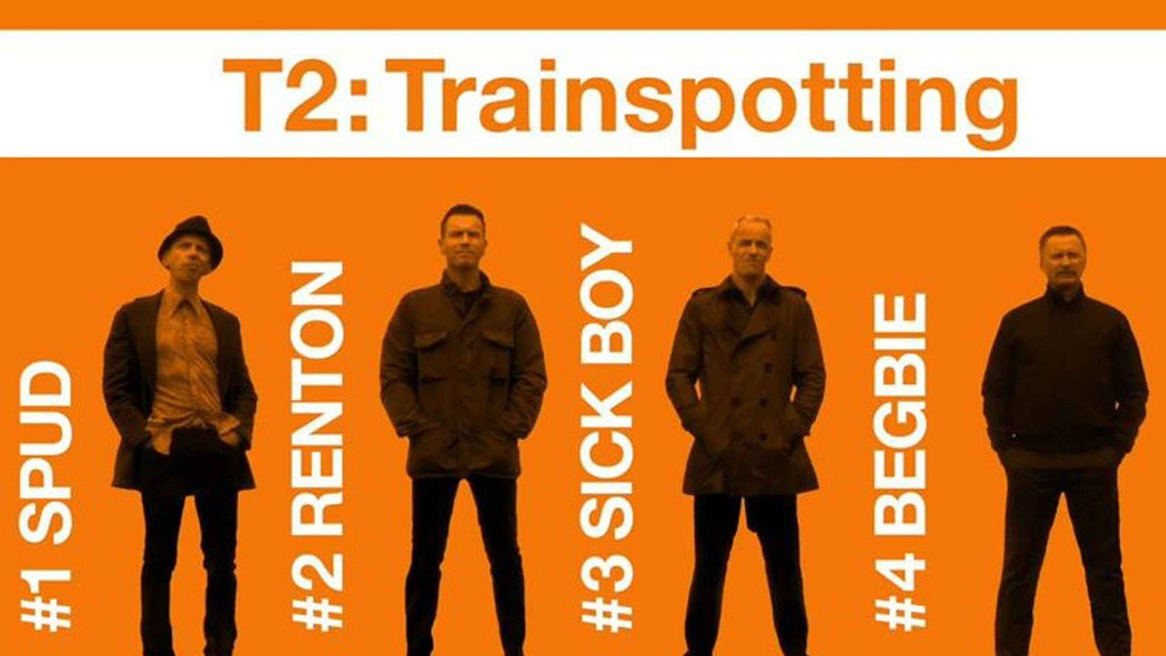 T2 Trainspotting   - The first   Trainspotting   is an excellent film with a killer soundtrack. I missed   T2   at the theater, but I hear it's just as good as the first.