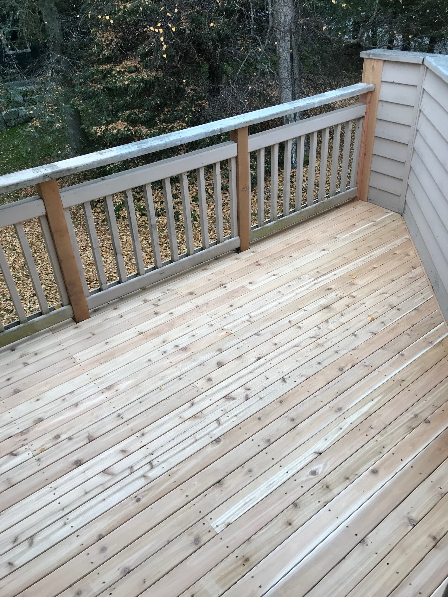 Rotted decking repair
