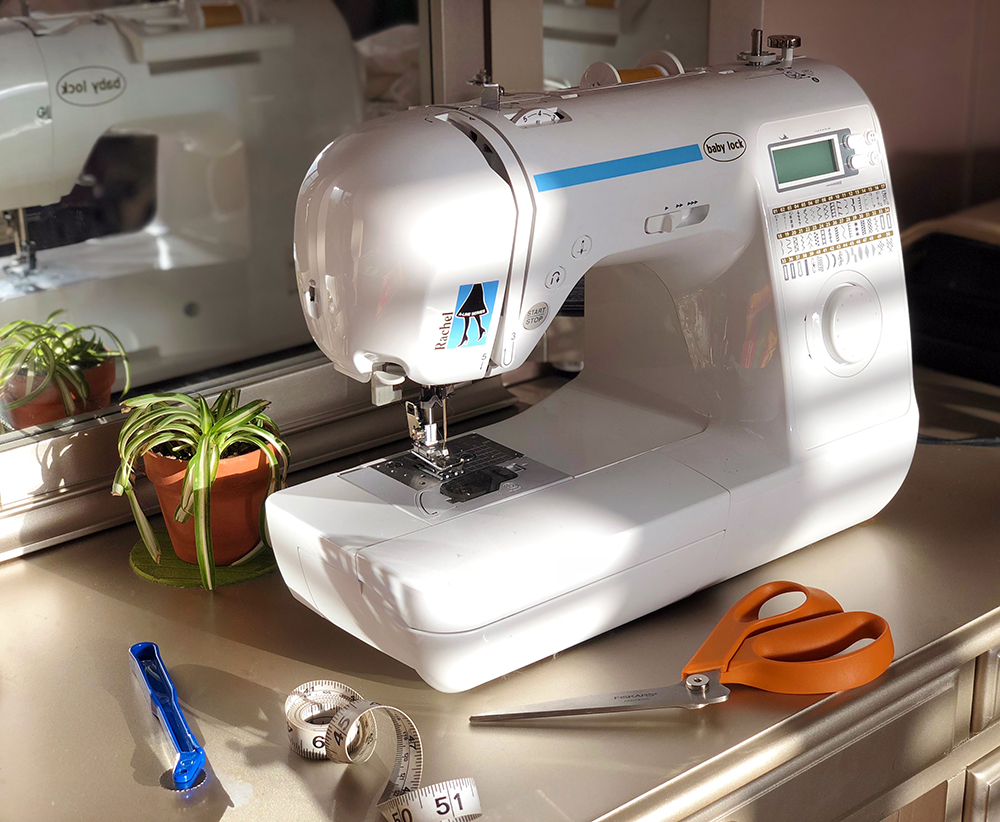 My beloved Baby Lock sewing machine is hungry for work