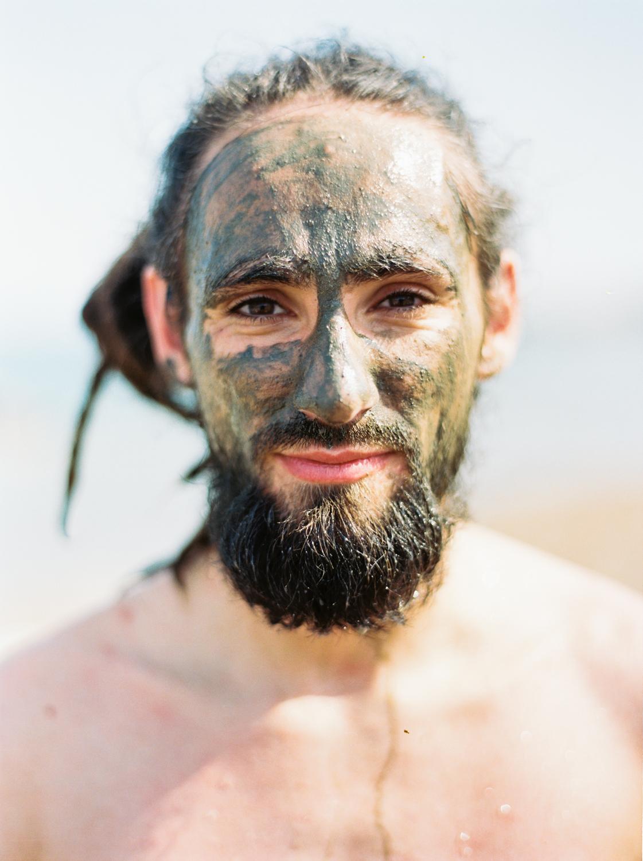 Bather Dead Sea, West Bank  2015