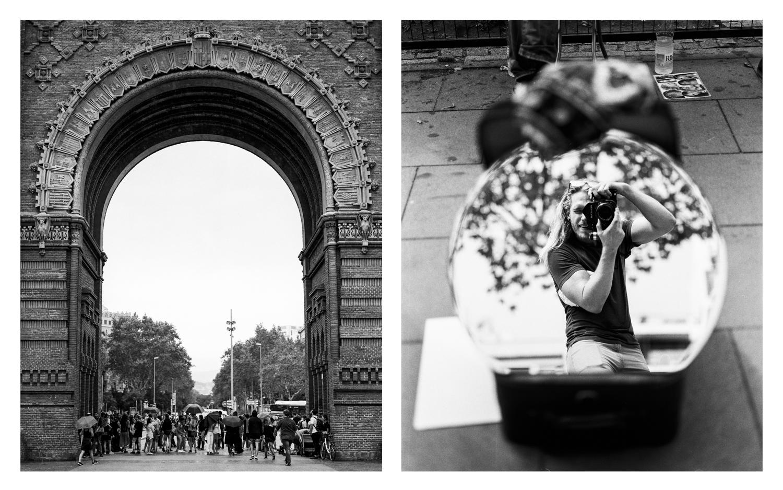 Arco de Triunfo and Self Portrait Barcelona, Spain  2017