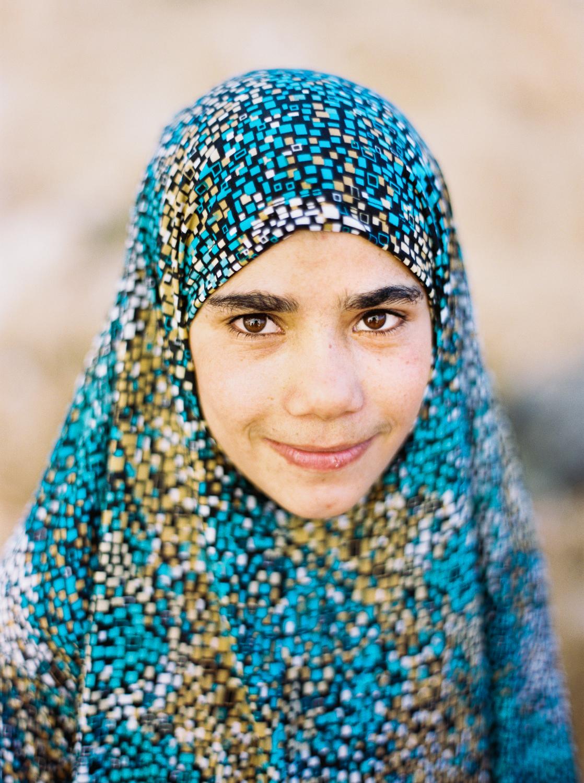 Palestinian Girl Near Al-Shuhada Street Hebron, Palestine West Bank  2015