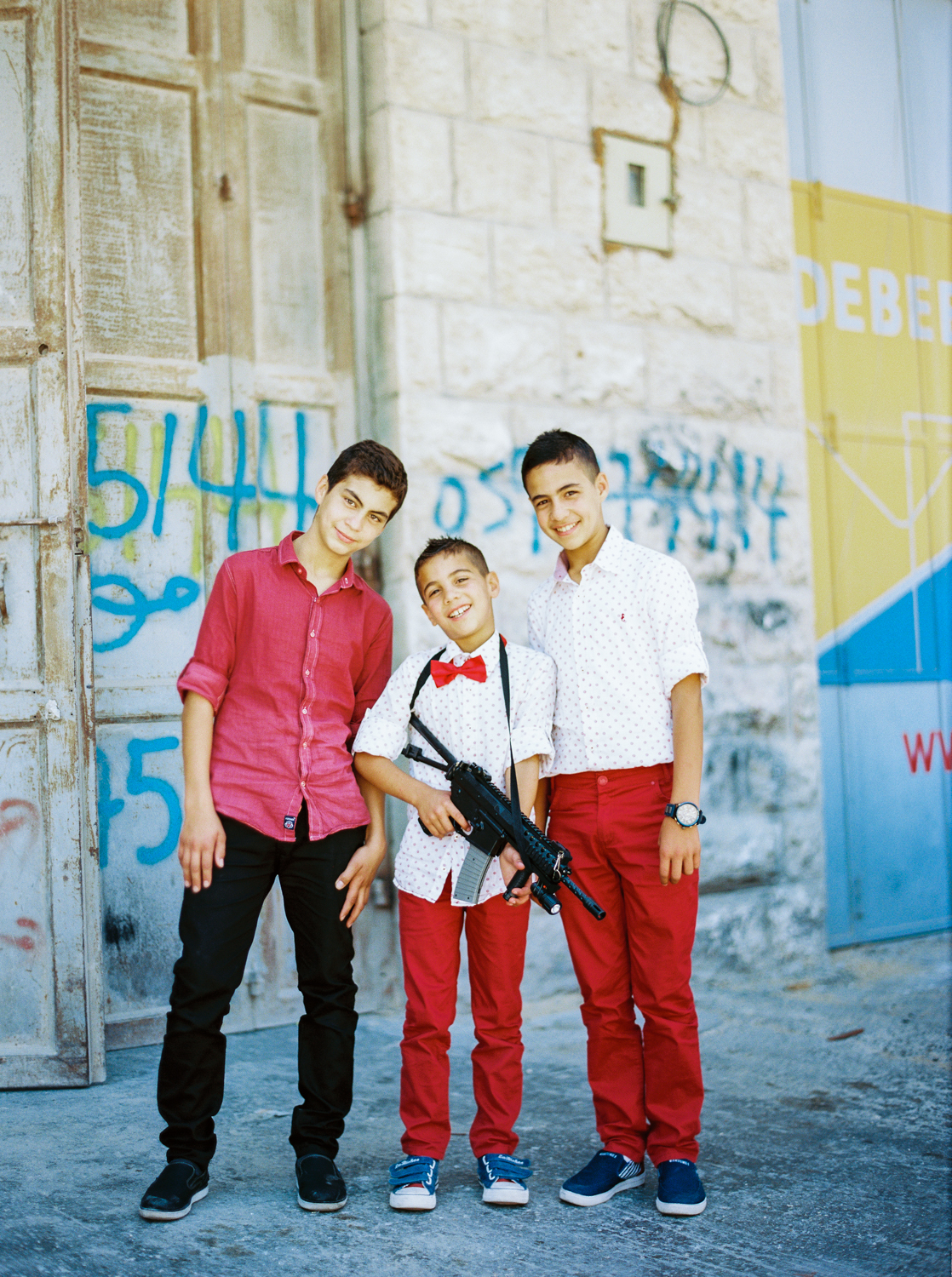 Palestinian Boys With Eid Gifts Hebron, Palestine West Bank  2015