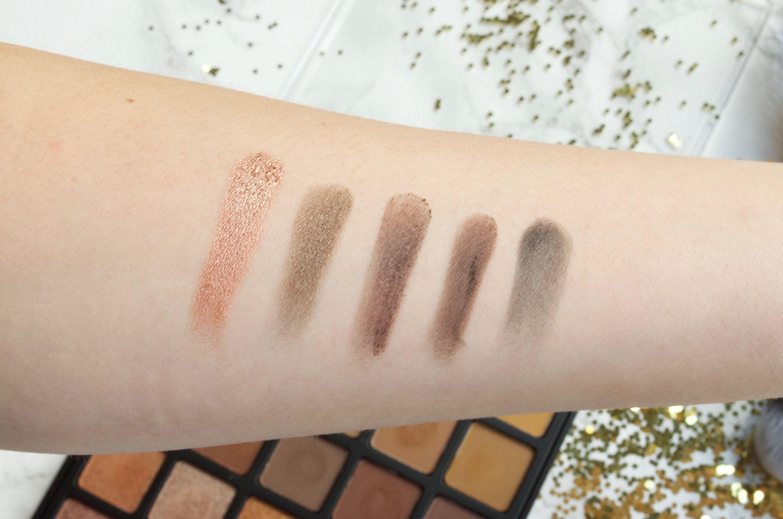 Morphe Spiced Copper Palette Swatches