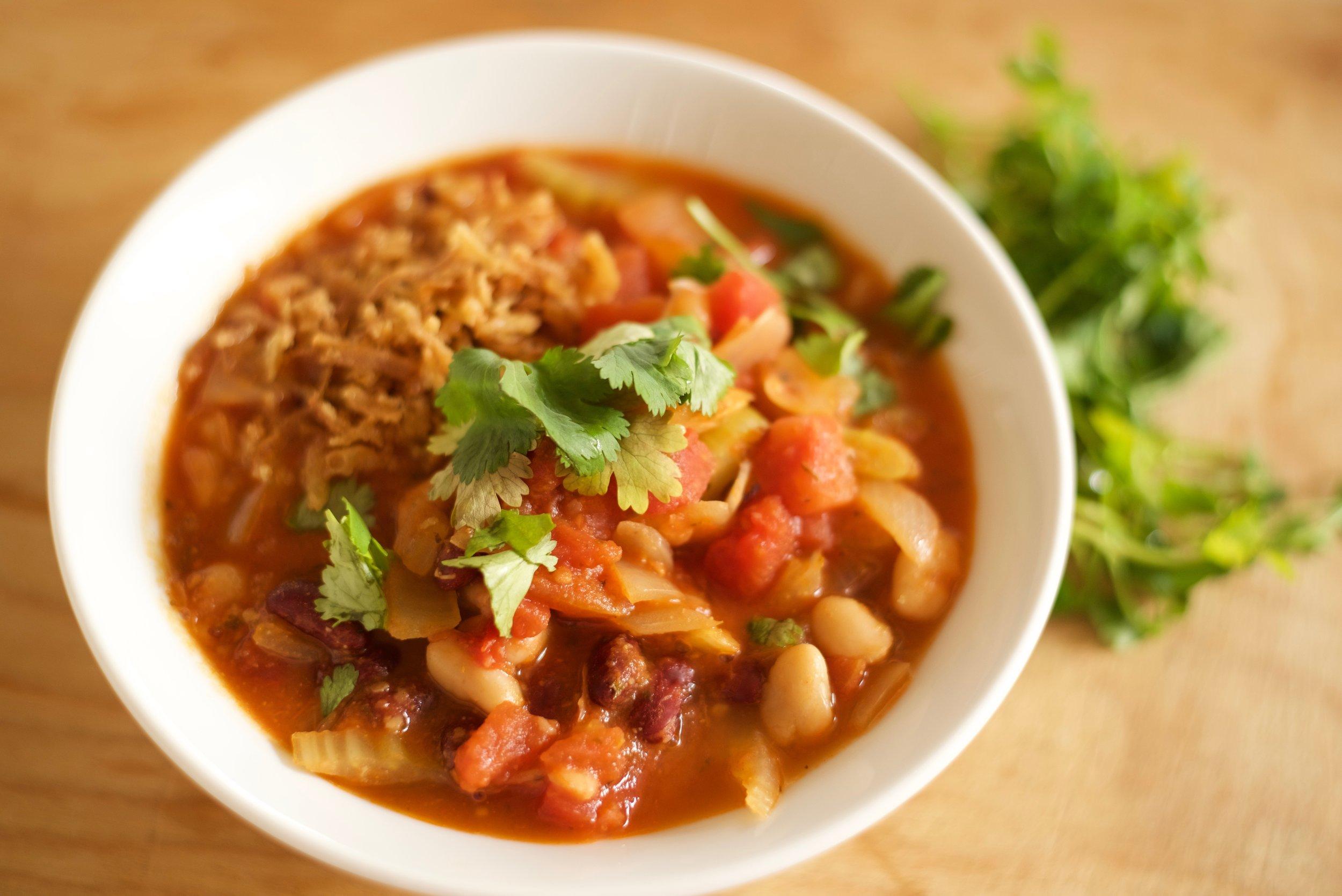 Quick Easy Comfort Food- Vegan Chili