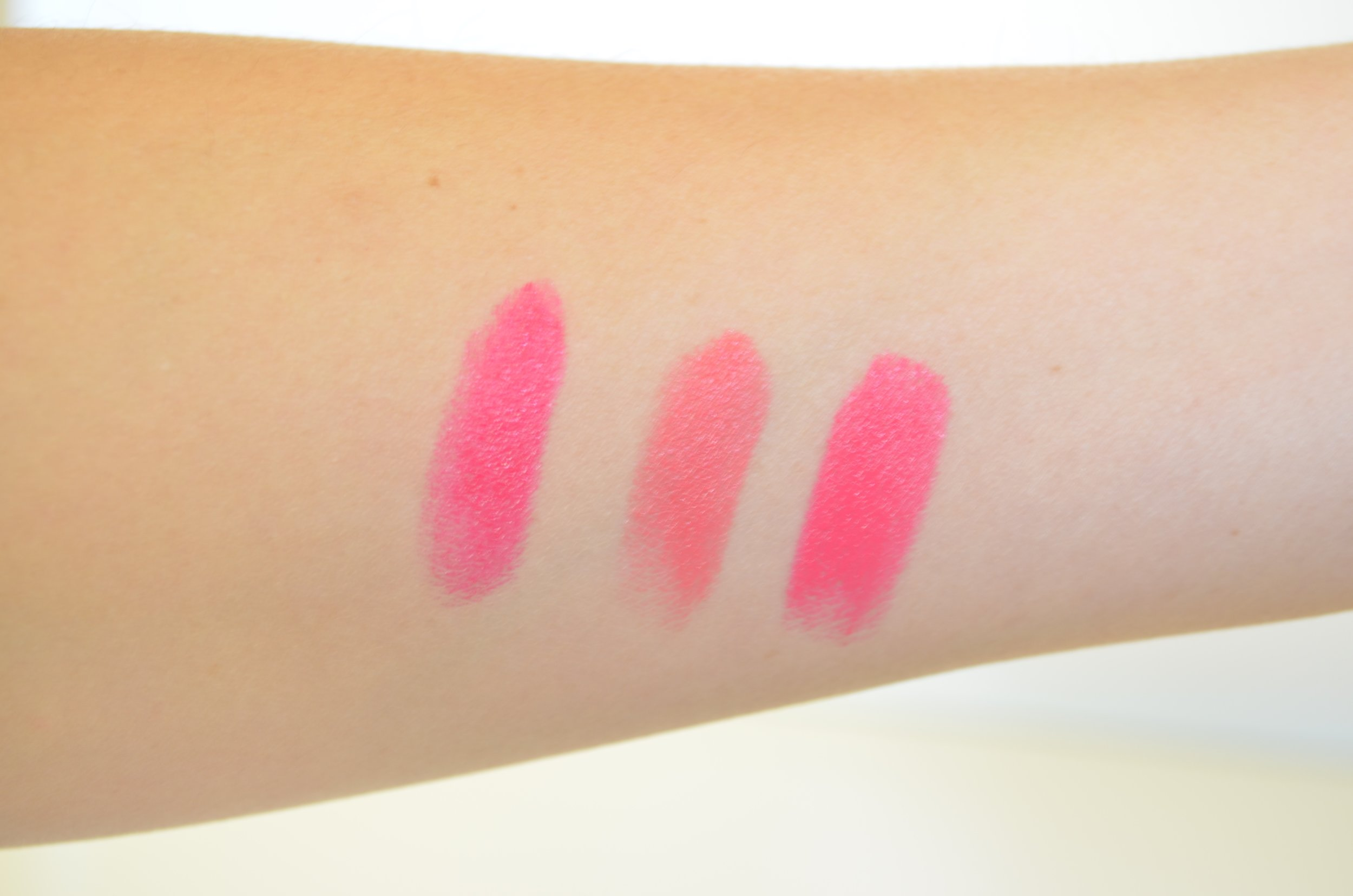 Maybelline Vivid Rose Bobbi Brown Miami Pink Pop Pink.jpg