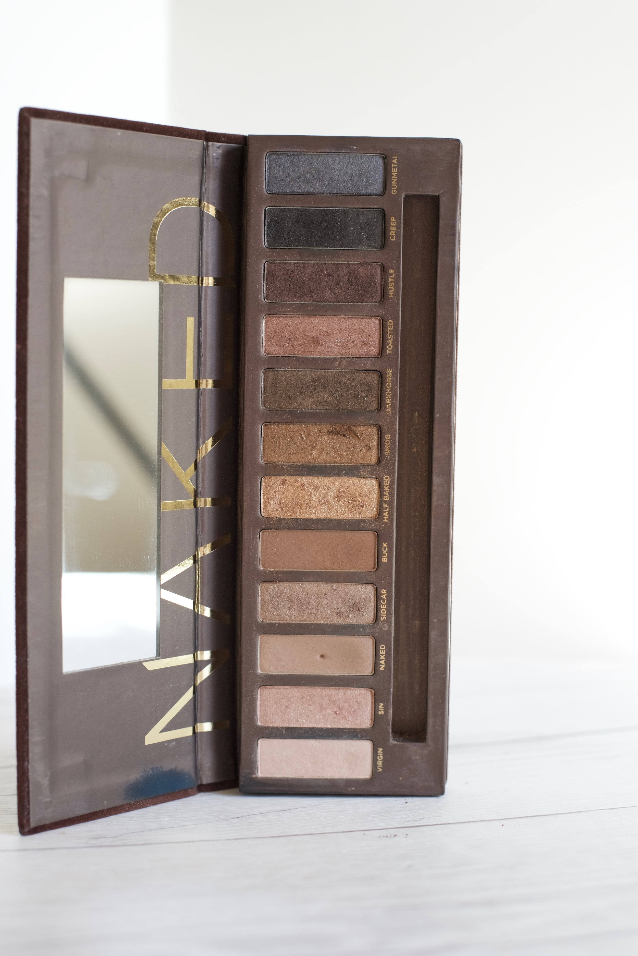 Urban Decay Naked I - I'm kind of embarrassed to say how long I've had this palette, but I've rediscovered it and fallen in love all over again. The shades of brown in this palette are so much more flattering than all the other neutral palettes I own.