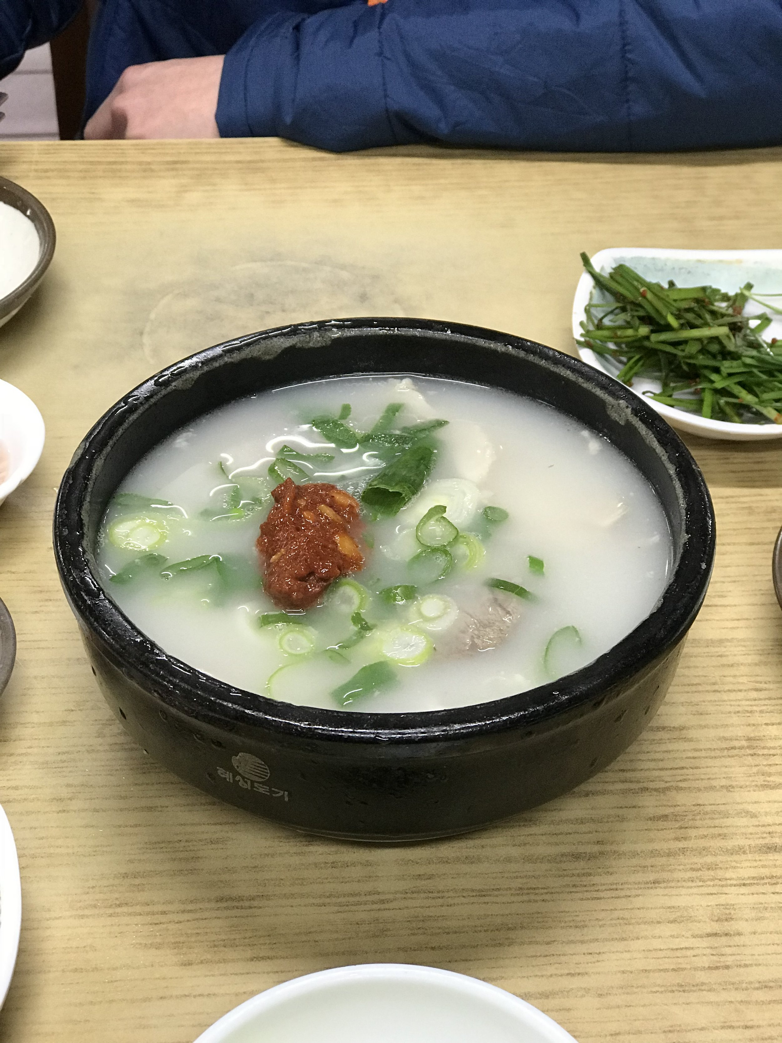 Dwaeji Gukbap: Busan is known for making this pork stew. It is so delicious and makes a wonderful meal any time of the day.
