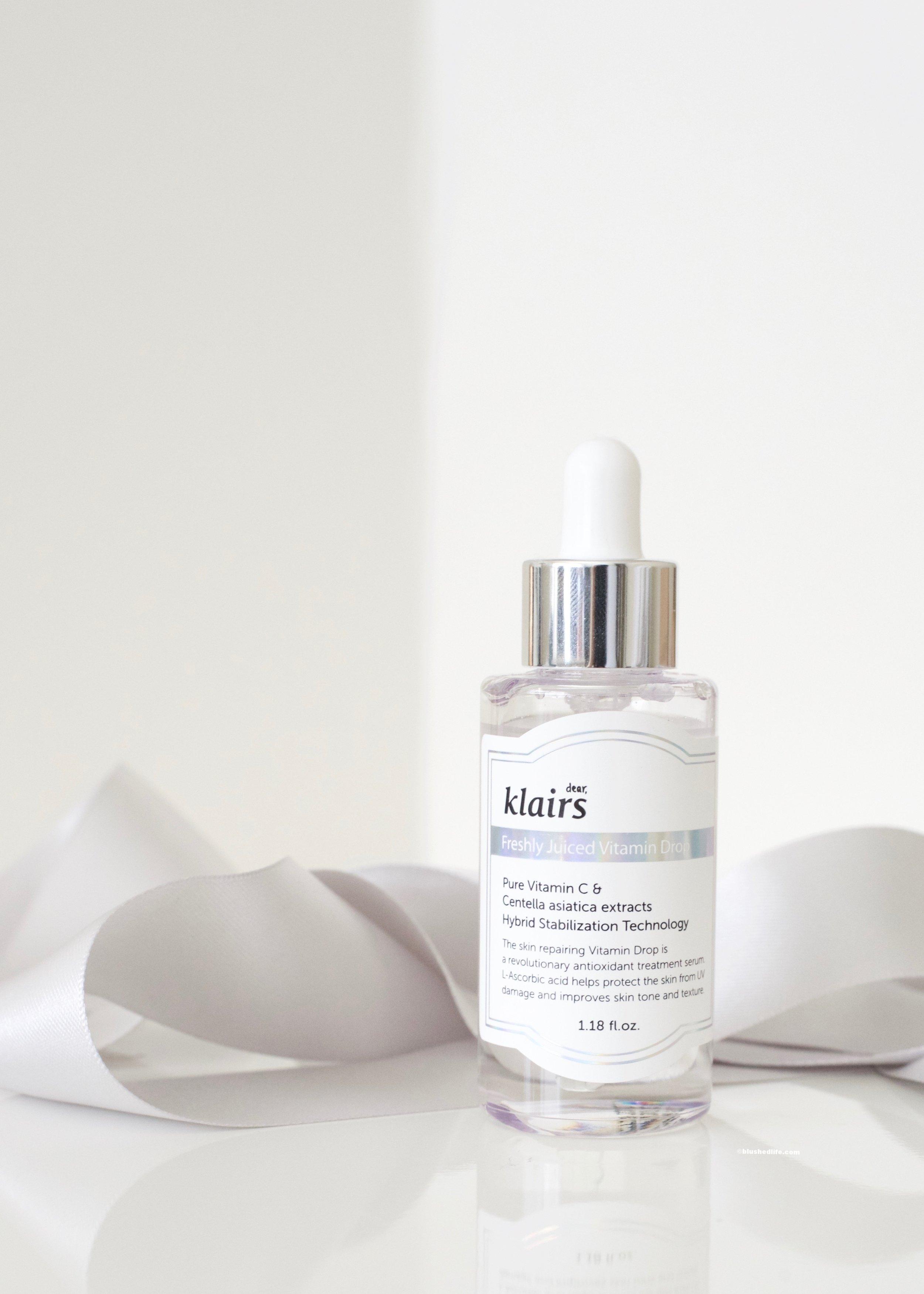 2. Klairs Vitamin C Drops - To brighten the skin and fade pigmentation.