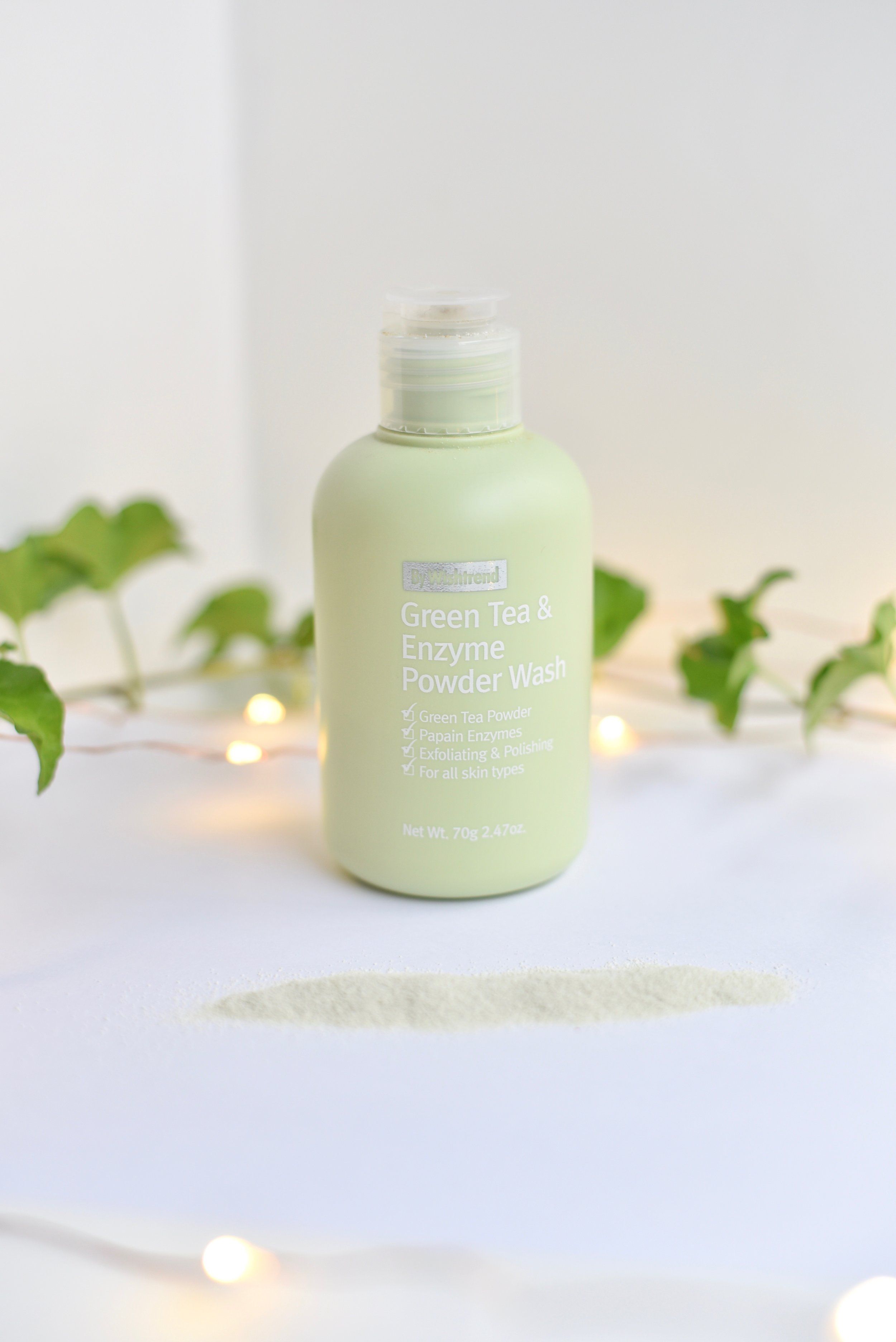3. ByWishtrend Green Tea Powder Wash - To gently exfoliate and deep cleanse the skin.