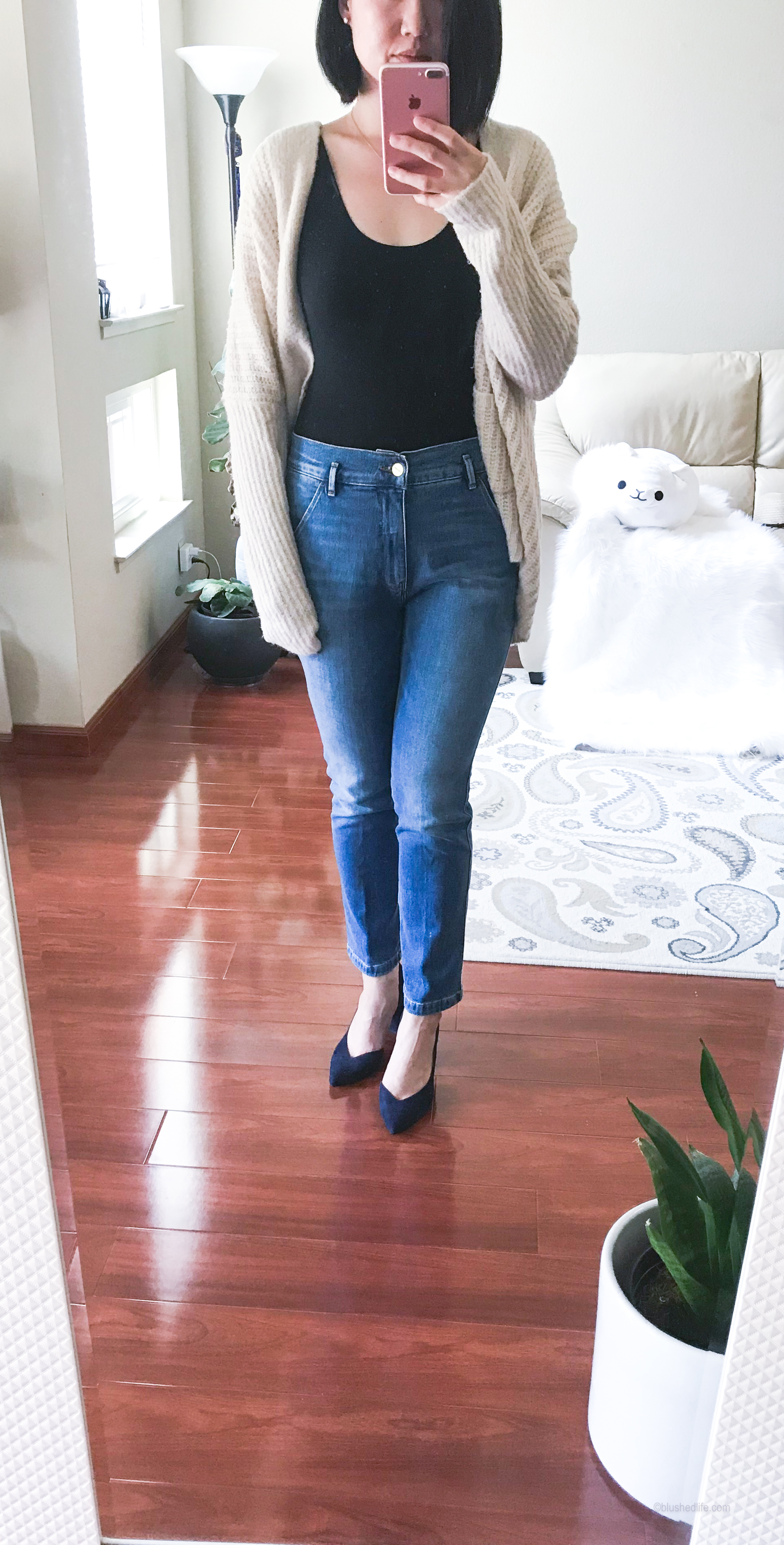 Frame Le Slender Straight Leg Jeans //State Sisteen Half d'Orsay Pump -