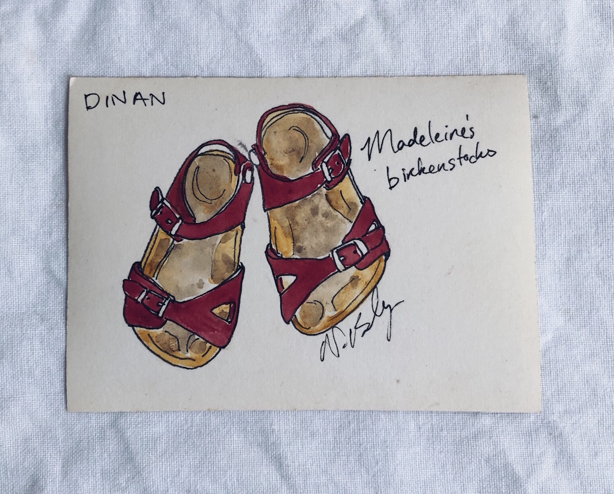 birkenstock kilometres - The day before we left on our adventure, we took the children to the Birkenstock store in Melbourne and picked up a pair of sandals each. It was winter here in Australia, and they had long grown-out of their sandals from the previous summer. When we arrived in France, those sandals became synonymous with the new sense of adventure and resilience my children developed. From complaining about a two-block walk in Australia, they cheerfully walked 10+ kilometres every day in those sandals