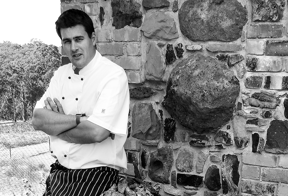 Farmers Arms head chef, Chris Timmins