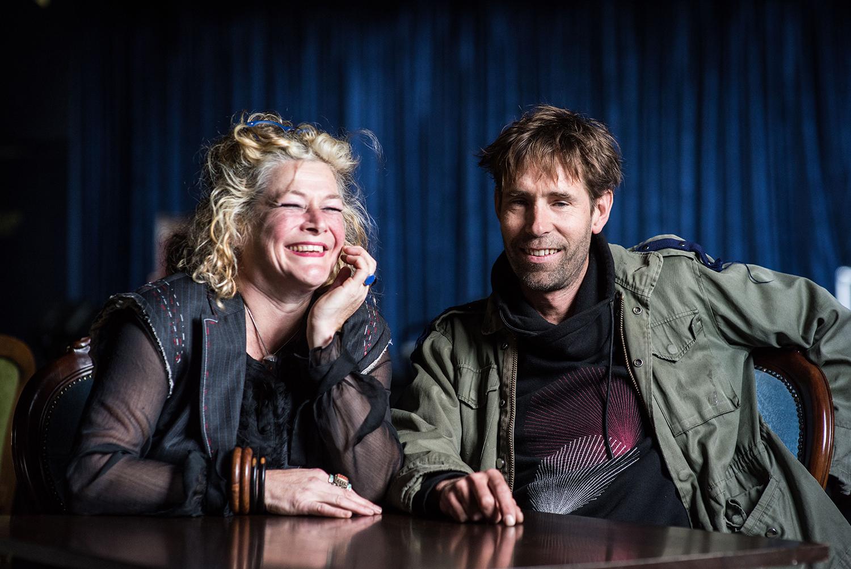 Sallie Harvey and Cameron Saunders