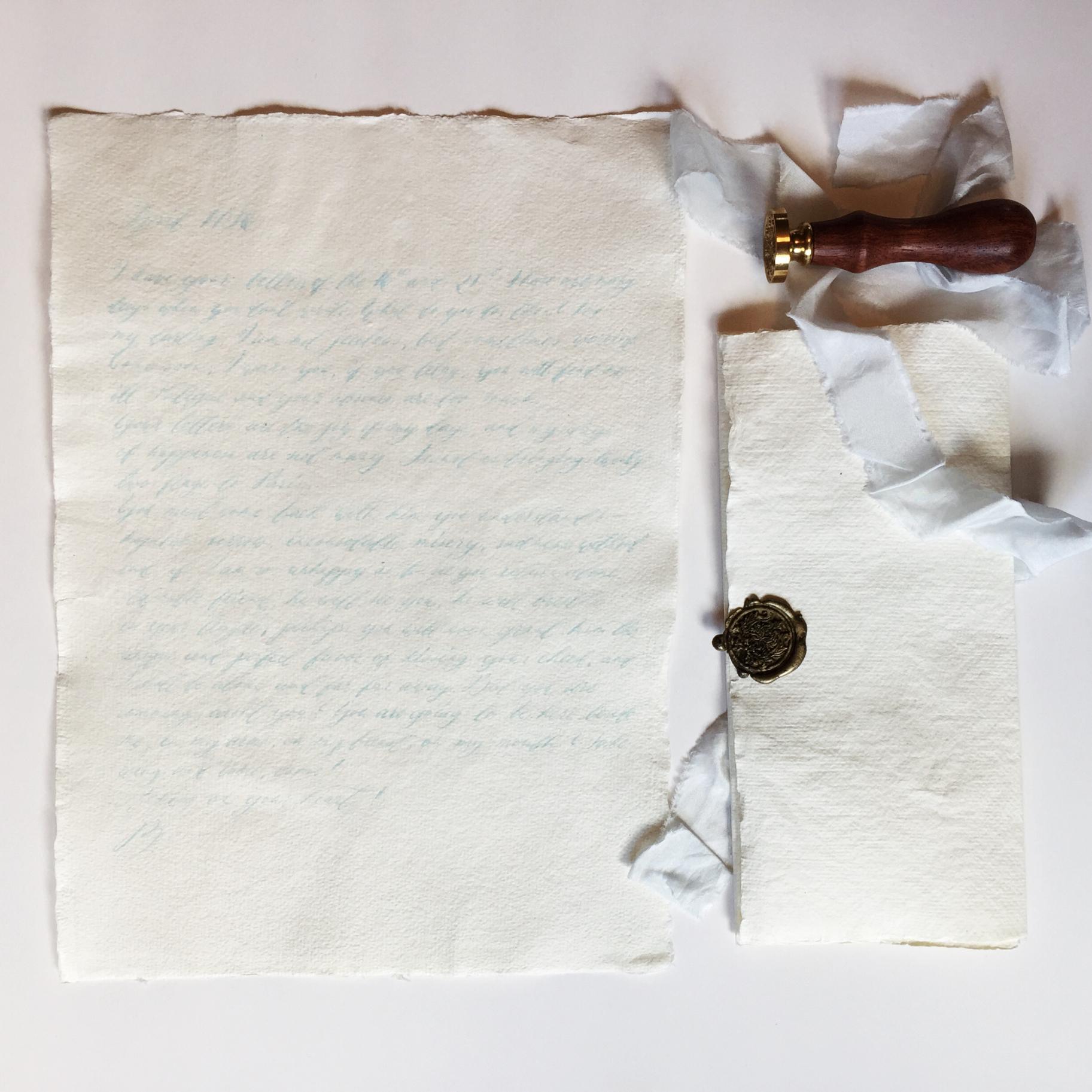 Wax sealed handwritten love letter