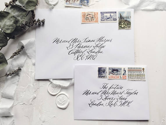 Vintage stamps - To ensure every detail is in keeping, I can source vintage postage stamps. This does require extra time and budget, but is a fabulous finishing touch.