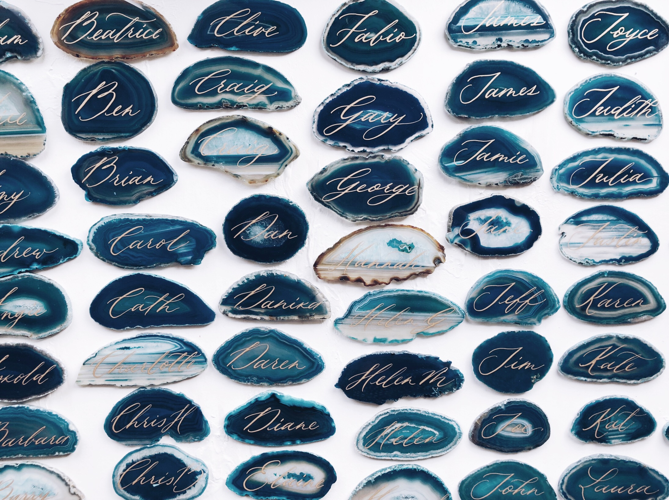 Agate slices -