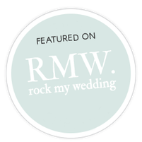 Featured calligrapher on Rock My Wedding