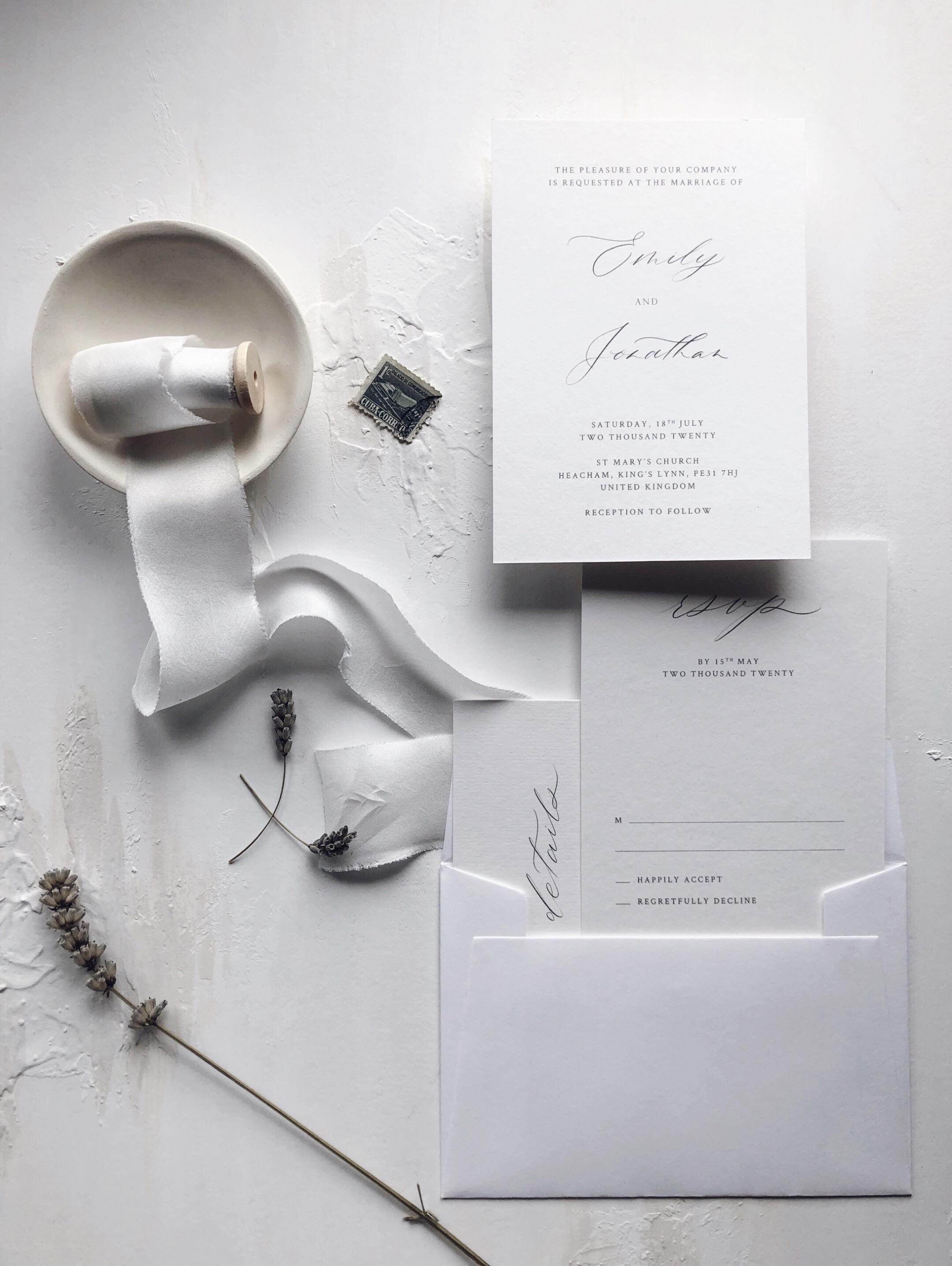 semi-custom wedding stationery -
