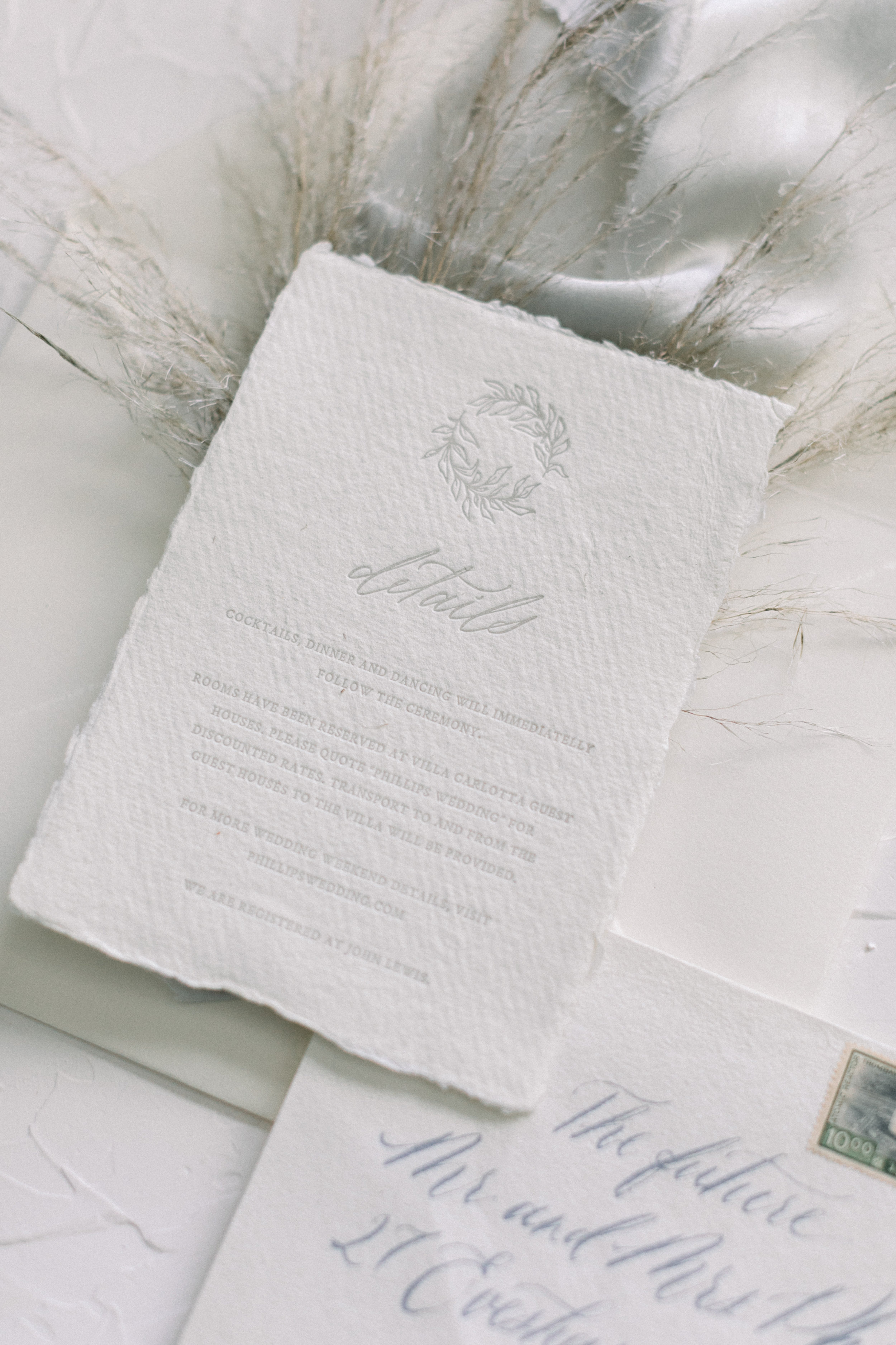 Pale grey letterpress on handmade paper. Photo:  Sarah Brooke Photo
