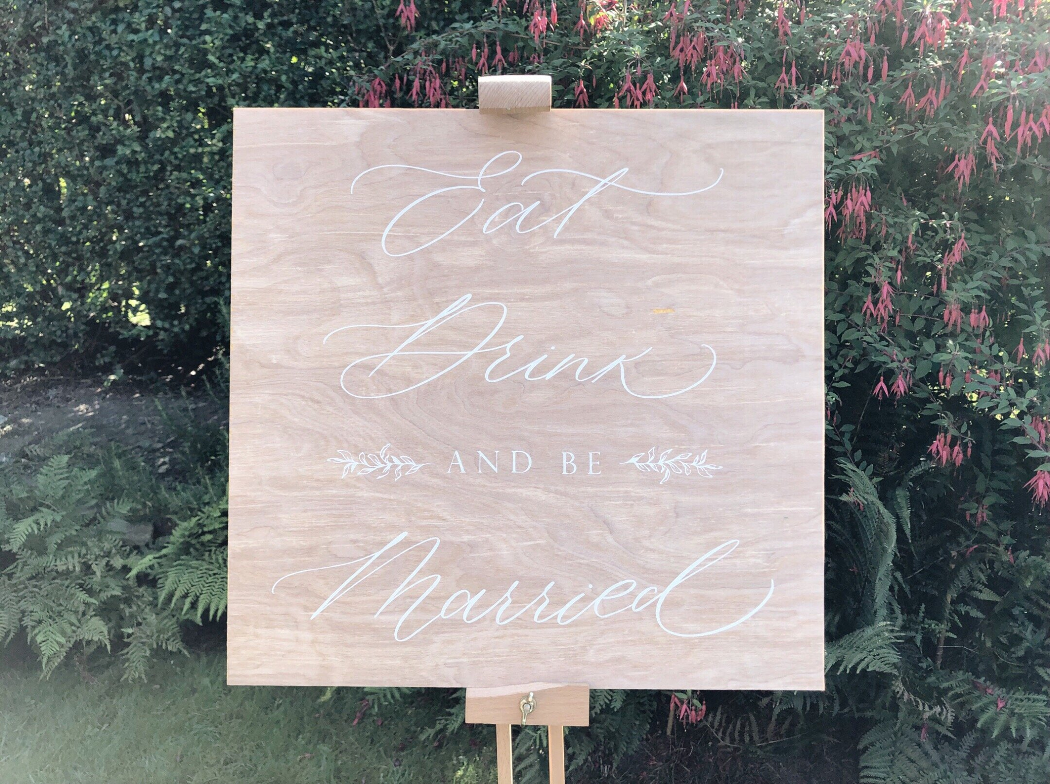 Wedding signs in Leeds - acrylic pain on wood