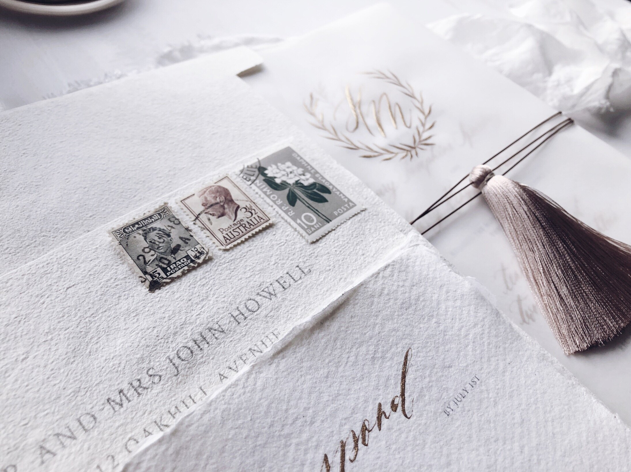 Ethereal hand-finished wedding stationery for eternal love -
