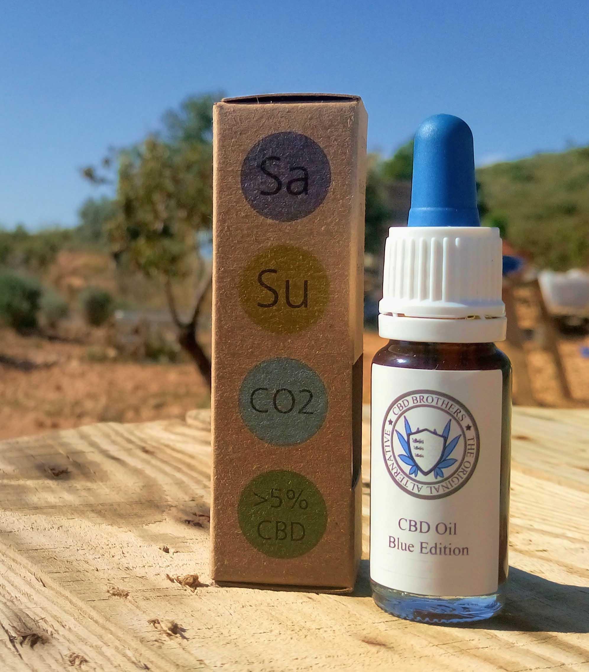 Blue Edition CBD Oil – 2000mg > 25% CBD – 5% Per 10ml (Sativa)