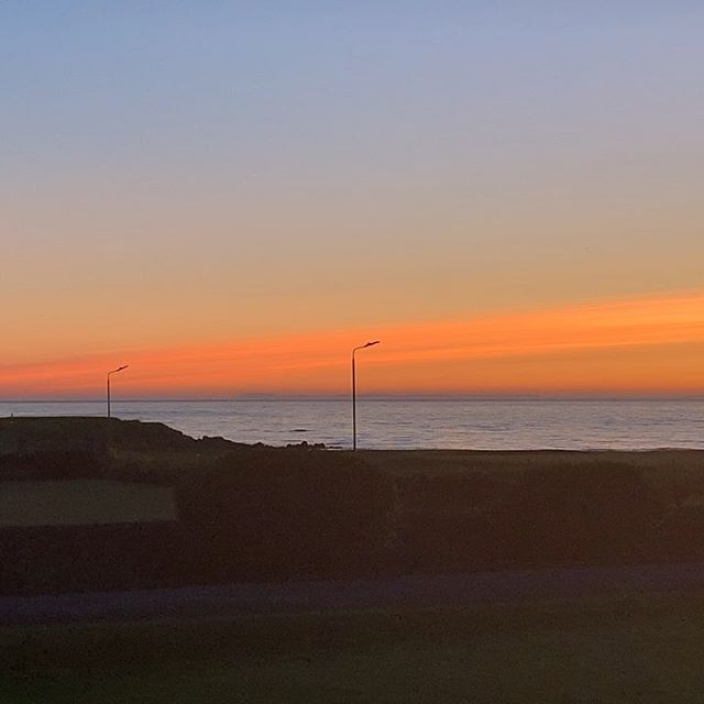 Sunset and morning Dunlossit House. #machrihanish #explorekintyre #wildaboutargyll