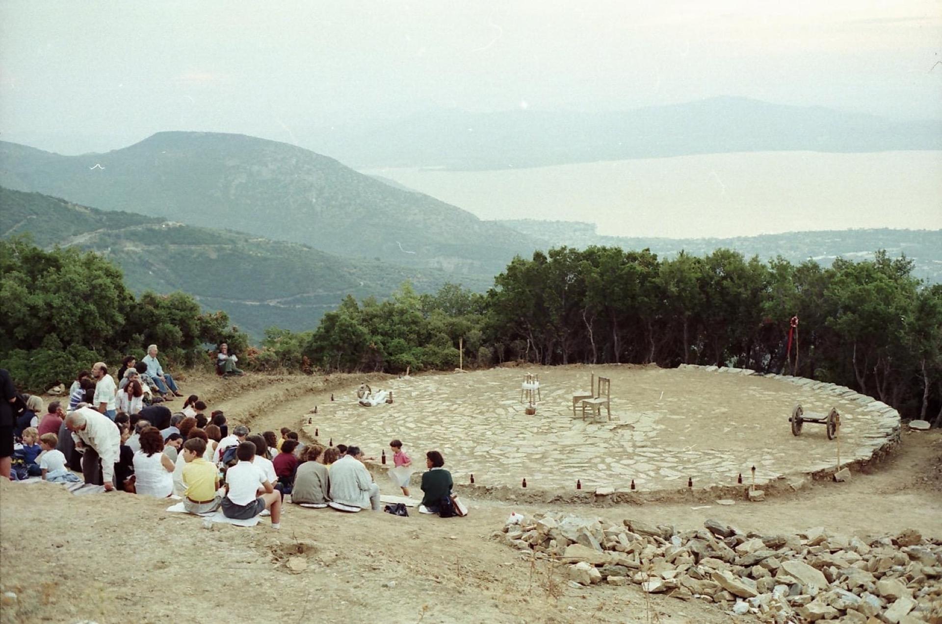 Ο ματωμένος γάμος του Λόρκα. Η πρώτη θεατρική παράσταση στο Αλώνι το 1996.