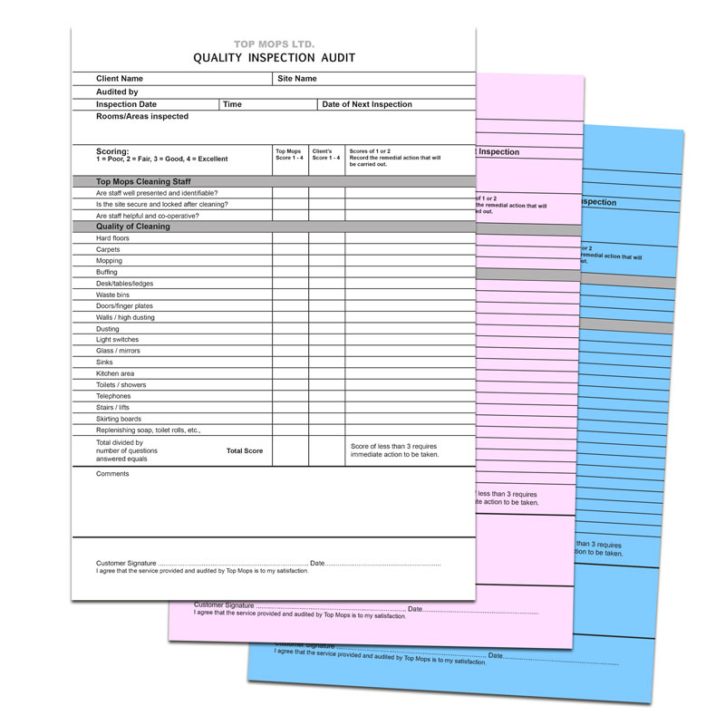 NCR PADS - Different coloured carbon copy sheets and made into pads of qty 50 sheets, suitable for documenting duplicate information and invoicing.