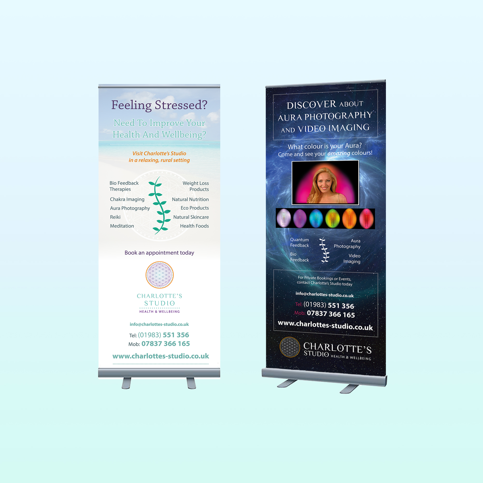 PULL UP BANNERS - 800mm x 2m 350micron pull up banners suitable for exhibitions and trade shows including carry case.