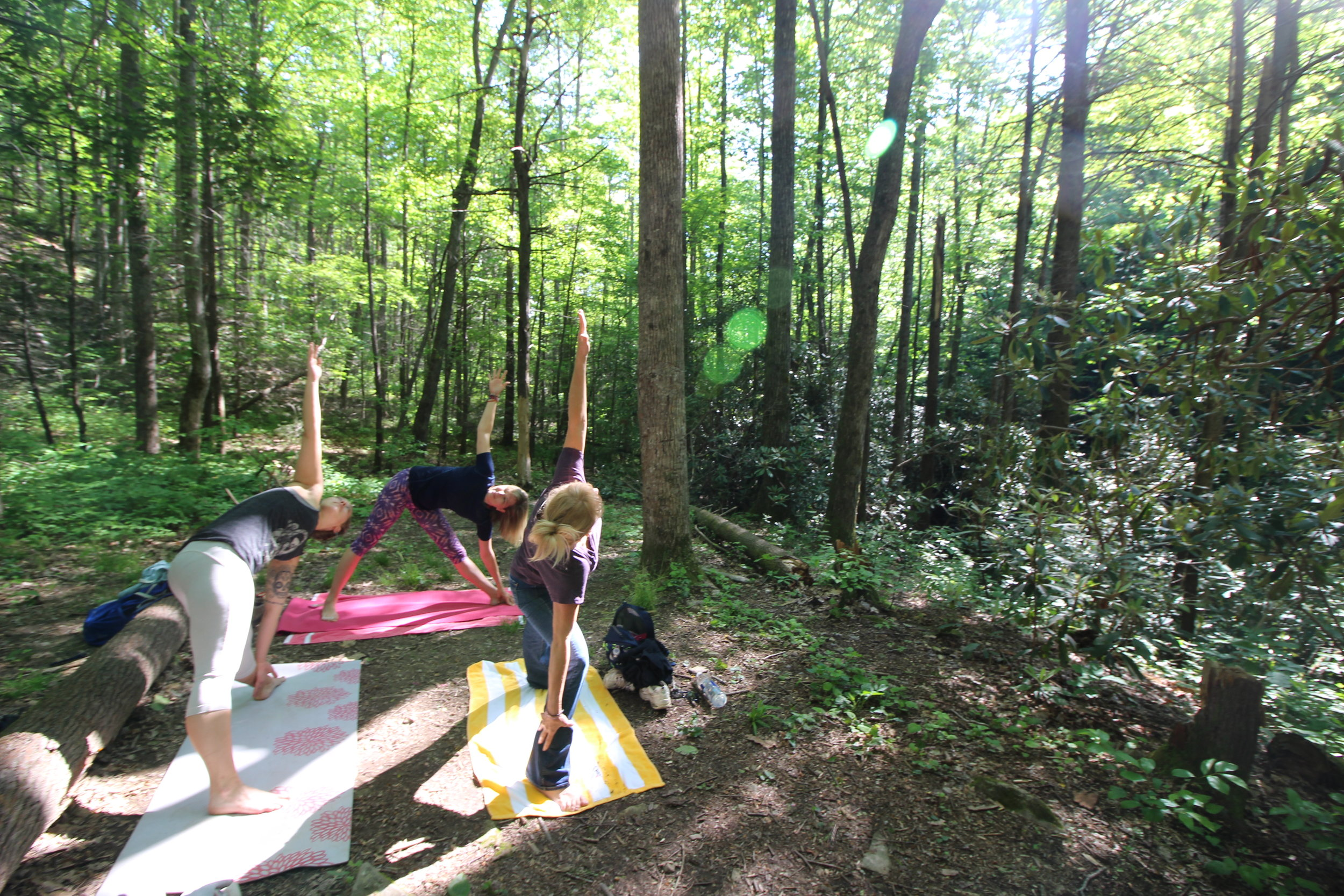 My first yoga hike meet-up in May 2017