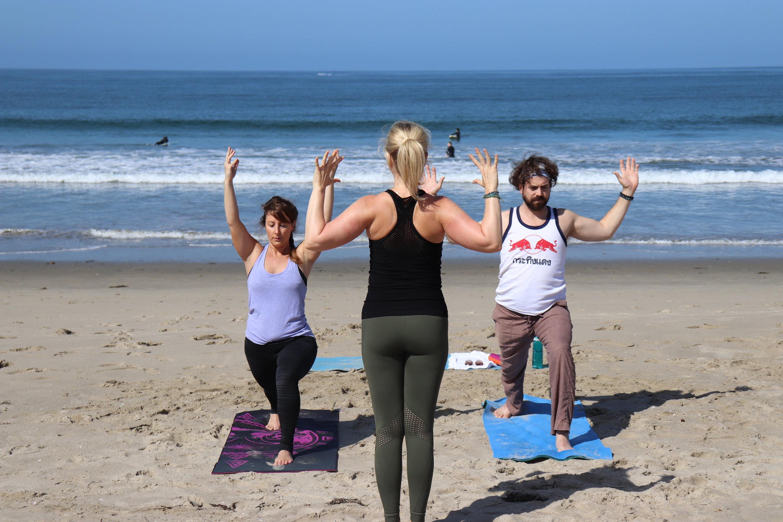 Yoga on the Beach = So many health benefits!