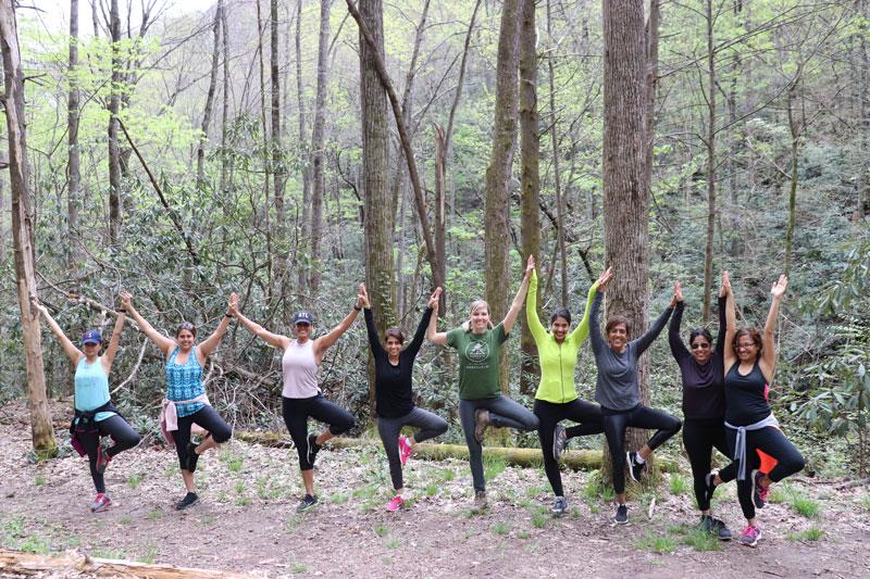 Group Hiking and Yoga Asheville NC.jpg