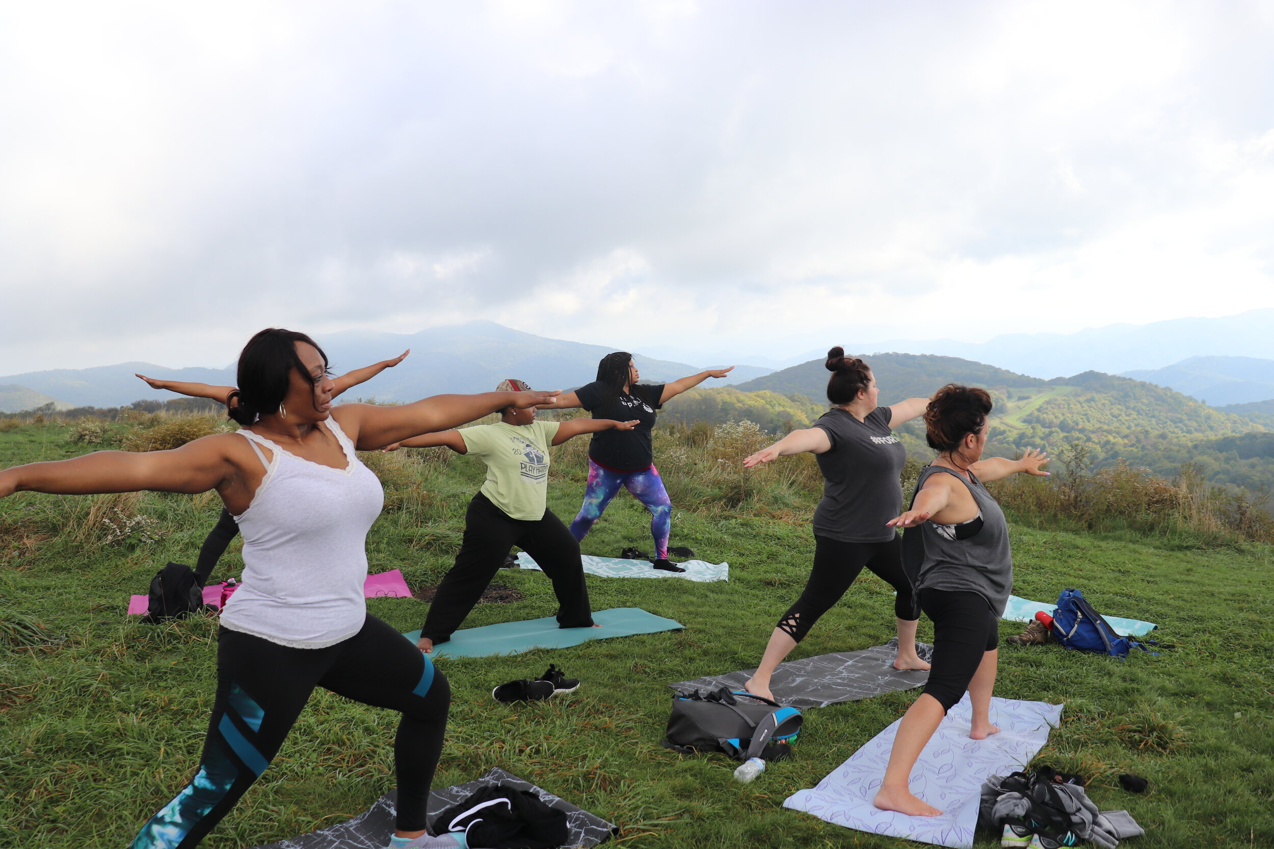 Doing yoga, hiking and meditating with your corporate or company team definitely beats sitting at your desk!