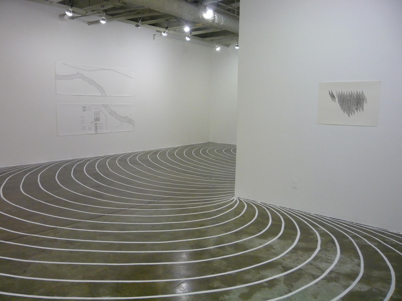 Painted concrete floor   Only Flow,  TRUCK, Calgary,