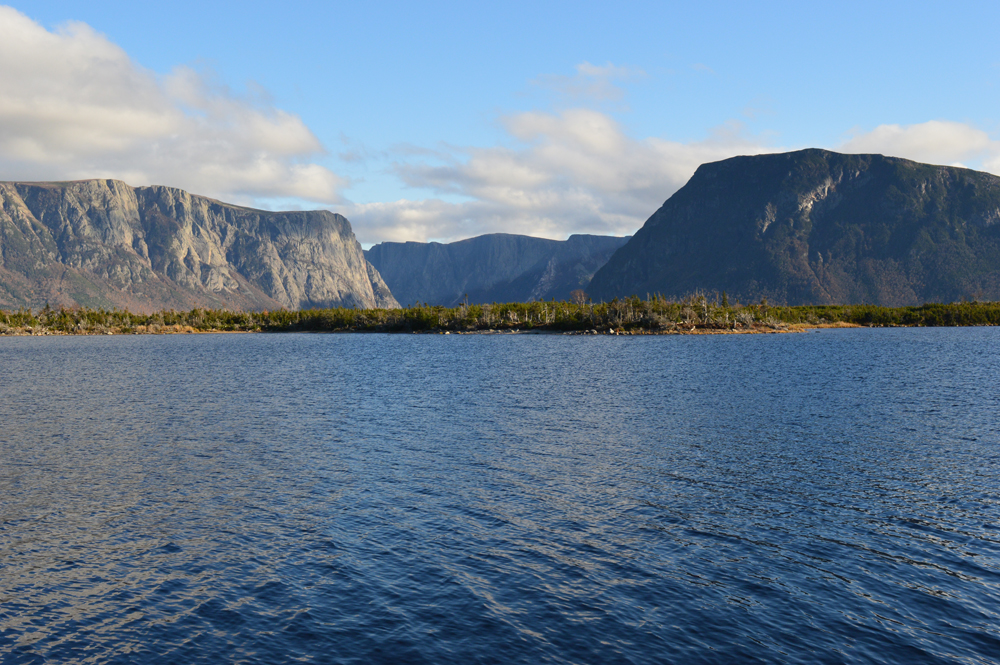 Hydrology and geology in Gros Morne National Park - from below