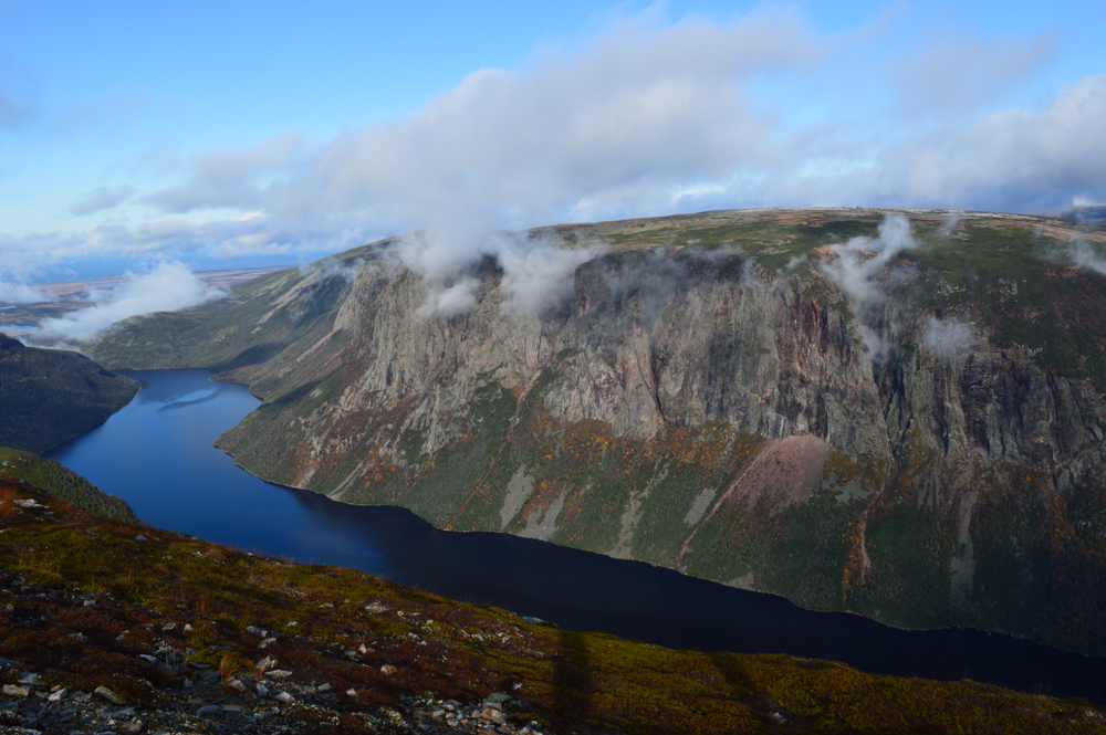 Hydrology and geology in Gros Morne National Park - from above