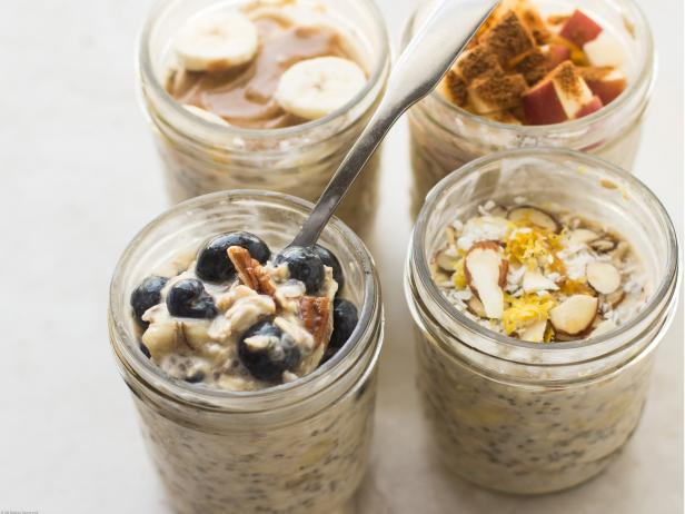 Overnight Oats - Want to save some time in the morning? Try prepping your oats the night before. Text me if you want to fit this in!Mix all together in mason jar or glass/plastic tupperware:1. 1/2 Cup Oats ( 1 Part oats )2. 1/2 Cup Water ( 1 Part Water )3. 2 Tbsp Chia Seeds4. 75g Yogurt5.40g Fruit Of choice6.Optional: 15g Whey Protein ( PE Science)