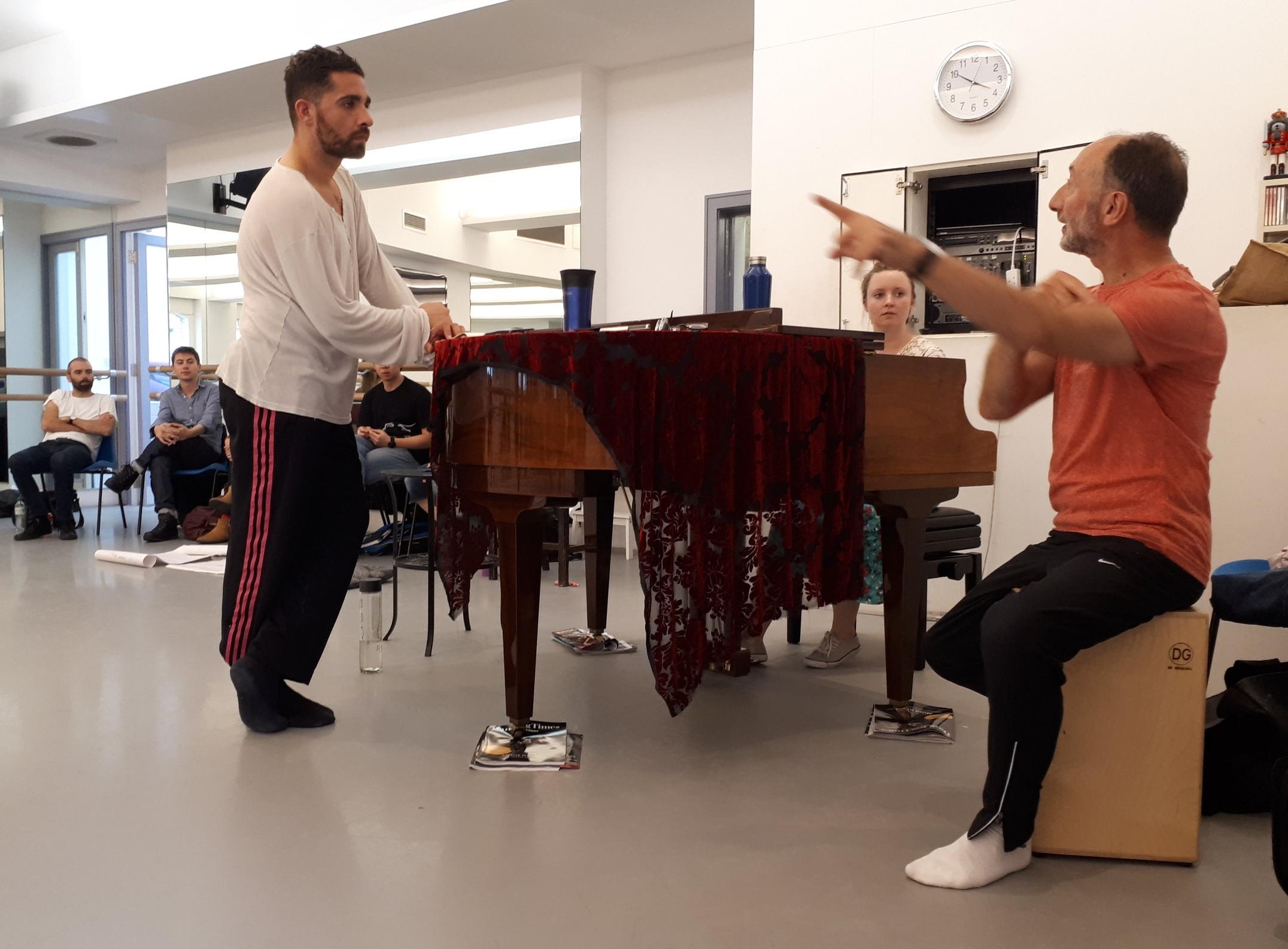 Rambert school teacher Matthieu geffre and musician chris benstead