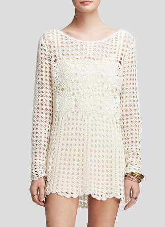 Free People Open Back Lace Sweater