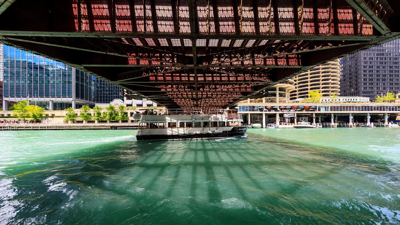 Dearborn Street Bridge, Chicago Riverwalk
