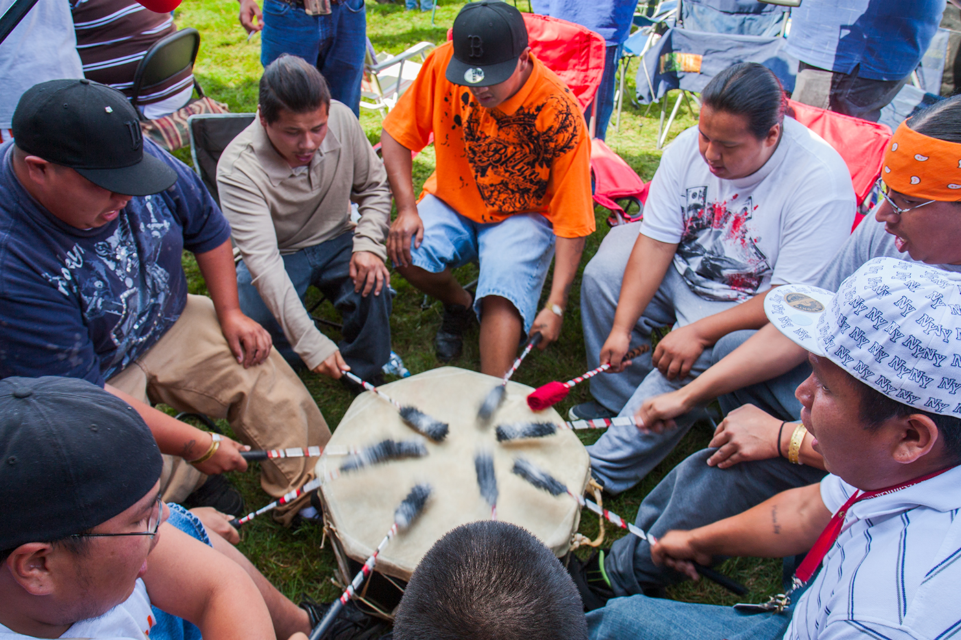 Dancers and Drummers, United Tribes Powwow, Bismarck, ND