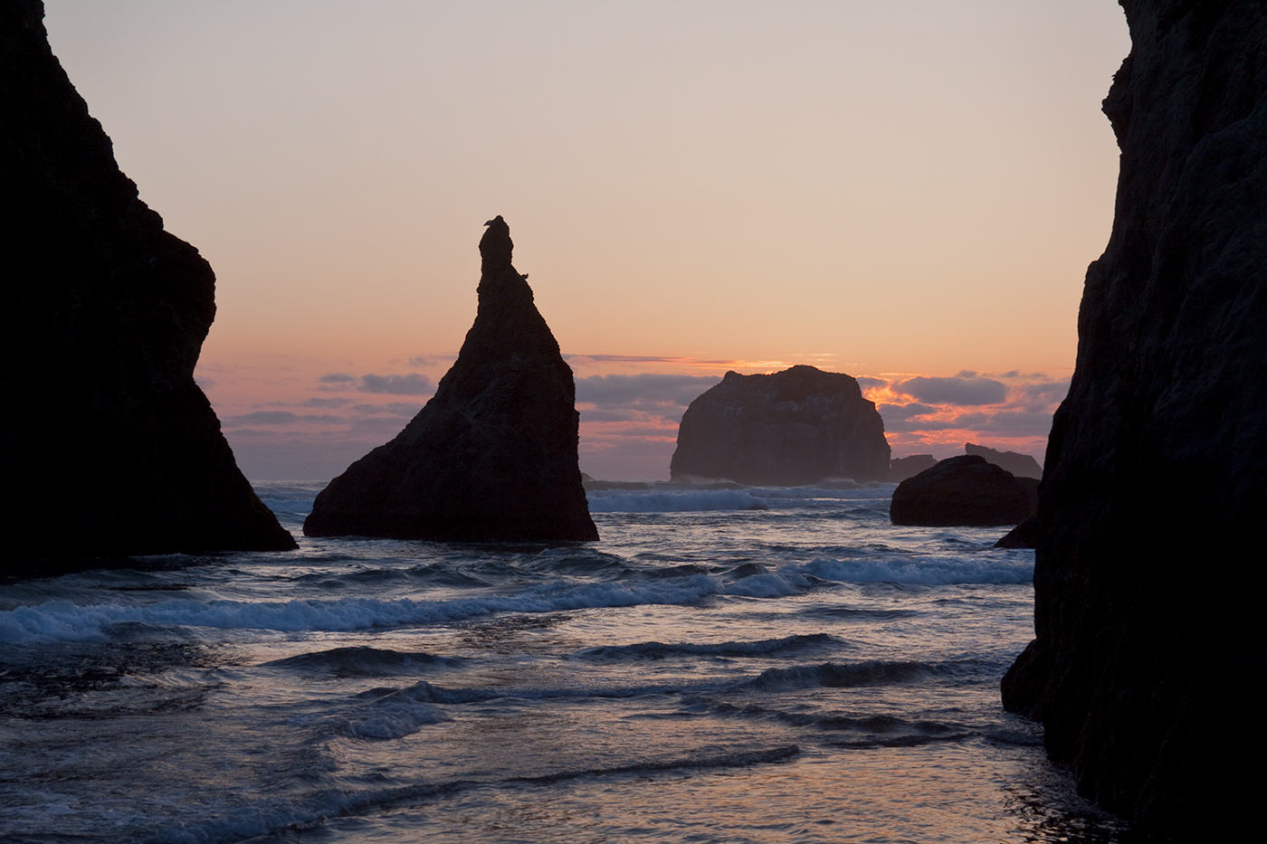 Sea stack bookends