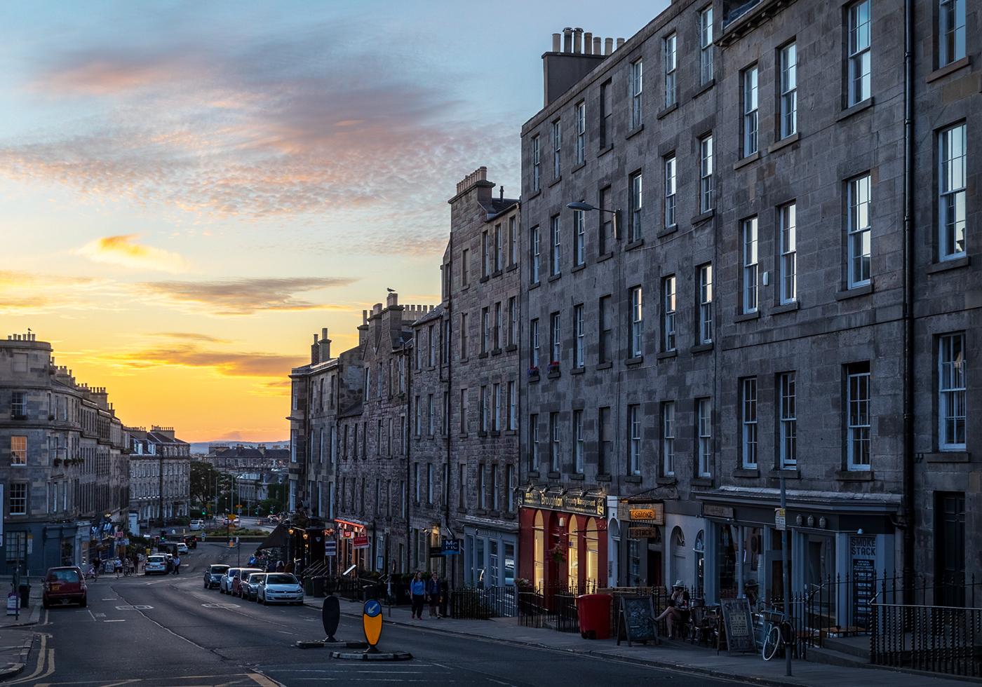 Gloaming street, Edinburgh, Scotland